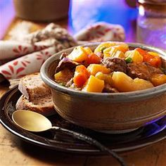Hearty Hunter's Stew Recipe -Moist, tender meat and thick, rich gravy are the hallmarks of this classic recipe slow-simmered in a cast-iron pot.—Joyce Worsech, Catawba, Wisconsin