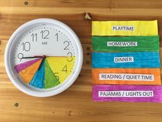 Color-Coded After School Alarm Clock For Kids Routine After School Schedule, Kids Schedule, Clock For Kids, Alarm Clocks For Kids, School Routines, Charts For Kids, Baby Kind, Coloring For Kids, Kids And Parenting