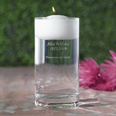 Floating Wedding Memorial Candle | Wedding Memorial Candles  for my sister angela