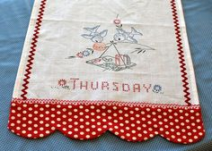 tutorial: towel with scalloped border (this pin leads directly to tutorial)