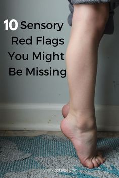 Sensory Red Flags! Repinned by SOS Inc. Resources pinterest.com/sostherapy/.
