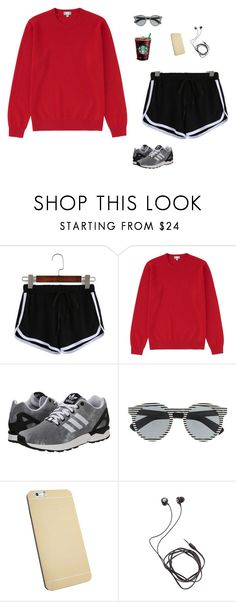 """Untitled #1632"" by tayloremily218 on Polyvore featuring Uniqlo, adidas Originals, Illesteva and Diane Von Furstenberg"