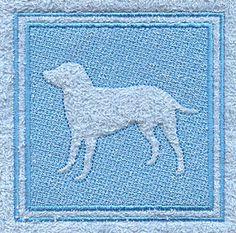 Labrador Retriever (Embossed) design (F4823) from www.Emblibrary.com