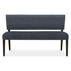 Mid-century influences make Georgia a flexible seating solution that adds style to your dining room or living room. Entryway Furniture, New Furniture, Dining Bench With Back, Georgia, Modern Colonial, Modern Entryway, Leather Bench, Modern Bench, Upholstered Bench