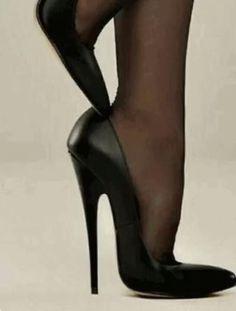 Pantyhose Heels, Stockings Heels, Black Stiletto Heels, Black High Heels, High Heel Boots, Shoe Boots, Shoes Heels, Botas Sexy, Very High Heels