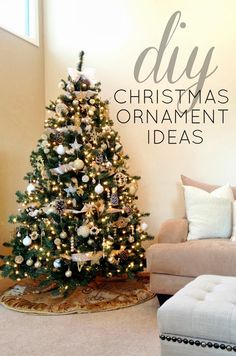 DIY Christmas Ornament Ideas...see how one blogger decorated her entire tree for only $15! This post is full of creative ways to save money and still create a beautifully decorated home this holiday season!