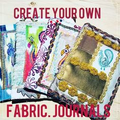 Colouricious Printology- come on our Stitched Collage course to learn how to make these fabulous fabric journals # stitchedcollage htt Create Yourself, Create Your Own, Textile Recycling, Creative Textiles, Fabric Journals, Fabulous Fabrics, Art Crafts, Stitches, Collage