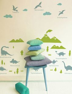 Great Dinosaurs Wall Stickers For Kids! Available At Www.kidsberry.com.au