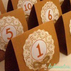 Números de mesa carpa