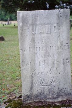 Jane, daughter of Solomon and Phoebe Terwilliger, b. 31 Oct 1830 NY d. 19 Oct 1845 bd. Methodist Cemetery, Fisher, Clarion Co, PA