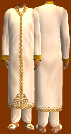 Mod The Sims - Sherwani: Y/Adult and Adult Formal Wear for Males.