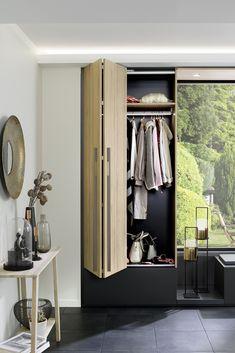 Choosing closet and dressing doors Schmidt, Placard Design, Folding Doors, Under Stairs, Dressing Room, Cupboard, Diy Furniture, Sweet Home, Entryway