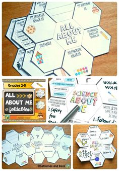All About Me Back To School, Math and Science {FREEBIE} Great way to get to know your students during the back-to-school season. Students will love creating a mini-book with these foldab Get To Know You Activities, All About Me Activities, First Day Of School Activities, Math About Me, 1st Day Of School, Beginning Of The School Year, Writing Activities, All About Me Art, All About Me Crafts
