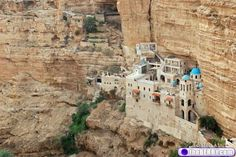 Cool part about this pic (aside from it just being awesome) is that I took this exact same picture - this is an old monastery in Israel - you see it on the old road to Jericho - which is still a dirt road from Jericho to Jerusalem.
