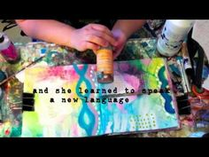 wonderfully inspiring video for art journaling good example of altered art page Mixed Media Techniques, Mixed Media Tutorials, Art Journal Techniques, Art Tutorials, Mix Media, Art Journal Pages, Art Journals, Altered Books, Altered Art