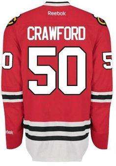 Mens Chicago Blackhawks Corey Crawford Premier Home Replica Jersey d7ffb1e56