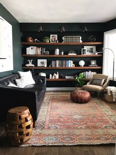 30 Reading Room Decor Inspiration to Make You Cozy Living Room Modern, Home Living Room, Living Room Decor, Reading Room Decor, Living Room Ideas Dark Wood Furniture, Dark Wooden Floor Living Room, Furniture Ideas, Apartment Living, Small Living