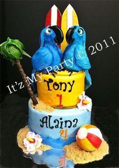 Rio & Pearl Birthday Cake - by It'z My Party Cakery @ CakesDecor.com - cake decorating website