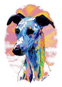 Electric Whippet Digital Art