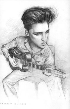 [ Elvis Presley ] - artist: Court Jones - website: http://www.courtjones.com/