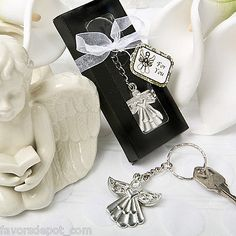 15 Guardian Angel Key Ring Favors Wedding Baptismal Christening Communion Favor