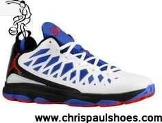Latest Listing Discount Jordan CP3.VI White Black Game Royal Sport Red 535807 103 CP3