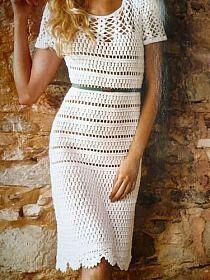 Biała sukienka.