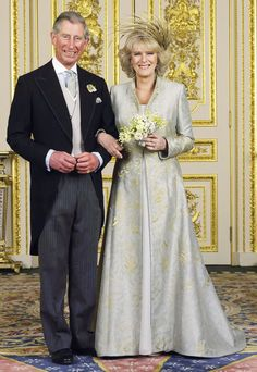 Duchess of Cornwall and Prince Charles on their wedding day, April 9, 2005