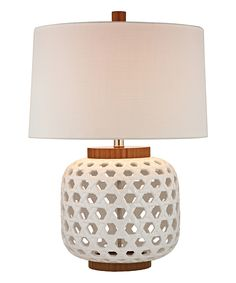 Bleached Wood Table Lamp