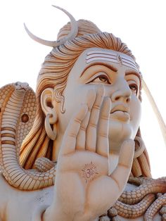 48216475 Most of the images and sculpture of Lord Shiva depict the River Ganga flowing from his matted hair. As wit… in 2020 Lord Shiva Pics, Lord Shiva Statue, Lord Shiva Hd Images, Lord Shiva Family, Shiva Shakti, Mahakal Shiva, Shiva Art, Ganesha, Lord Murugan Wallpapers