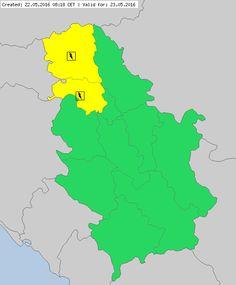 Meteoalarm - severe weather warnings for Europe - Mainpage - Serbia