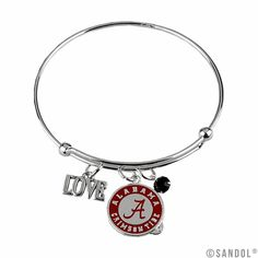 I Love Alabama Wire Bangle Bracelet the Crimson Tide