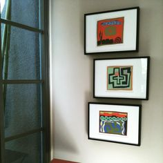 A recent Paragone art installation in a Santa Monica contemporary home is a perfect setting for NYC artist Jeff Maron's graphic and fun prints.