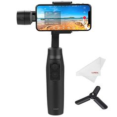 Moza Mini-MI 3-Axis Smartphone Gimbal Stabilizer, Wireless Phone Charging, Max Load 10.6 oz, Multiple Subjects Detection, Inception Mode, Timelapse for iPhone X 8