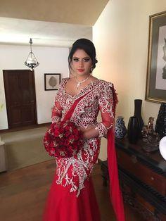 Indian Wedding Sari, Bridal Sari, Indian Wedding Ceremony, Saree Wedding, Wedding Wear, Indian Bridal, Wedding Attire, Indian Dresses, Indian Outfits