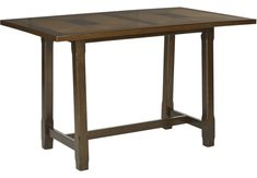Valleyside Oak Rectangle Counter Height Dining Table  - Dining Tables
