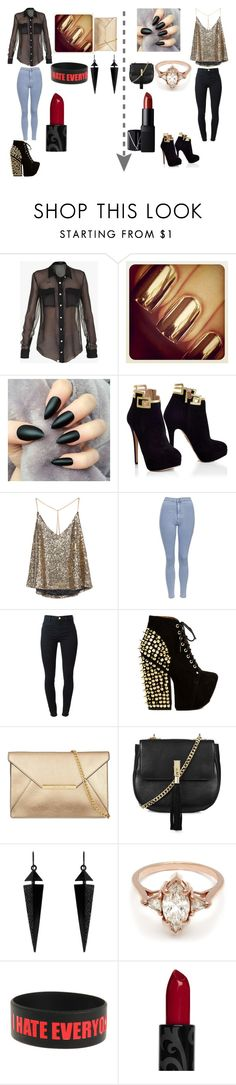 """""""1 or 2"""" by swagserena ❤ liked on Polyvore featuring Balmain, Topshop, J Brand, Jeffrey Campbell, Oasis, BEA and NARS Cosmetics"""