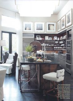 open cabinets and multi textured