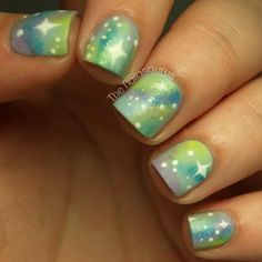 The Nailasaurus: Galaxy Nail Art Tutorial on We Heart It Elegant Nail Designs, Elegant Nails, Toe Nail Designs, Galaxy Nail Art, Cotton Candy Nails, Uk Nails, Nails Design With Rhinestones, Nagellack Trends, Nail Art Blog