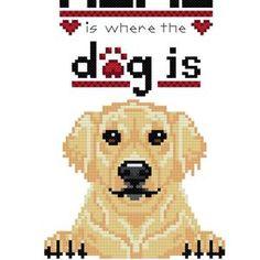 Where the Dog Is Tan Black Pug Cross Stitch Pattern   Etsy Golden Retriever Cross, Dogs Golden Retriever, Retriever Dog, Pug Cross, Peler Beads, Black Pug, Cross Stitch Animals, Pitbull Terrier, Digital Pattern