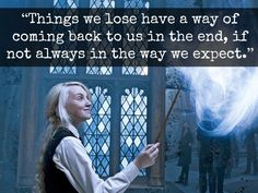 """Things we lose have a way of coming back to us in the end, if not always in the way we expect."""