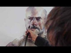 Watercolor demonstration by Marek Yanai - Portrait of Itai - YouTube