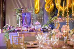 Gold helium baloons at the dessert station - Nadine and Lorenzo's Enchanted Parisian Wedding French Candy, Parisian Wedding, Candy Buffet, Event Styling, Enchanted, Affair, Delicate, Table Decorations, Bride