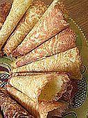 Basic Krumkake Recipe - Amazing Norwegian cookies that my mom makes for us :) nostalgic. Rosettes Cookie Recipe, Rosette Cookies, Norwegian Cuisine, Norwegian Food, Holiday Baking, Christmas Baking, Christmas Cookies, Norwegian Krumkake Recipe, Swedish Recipes