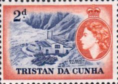 Tristan Da Cunha 1954 SG 17 Big Beach factory Fine Mint SG 17 Scott 17 Other Commonwealth stamp images here