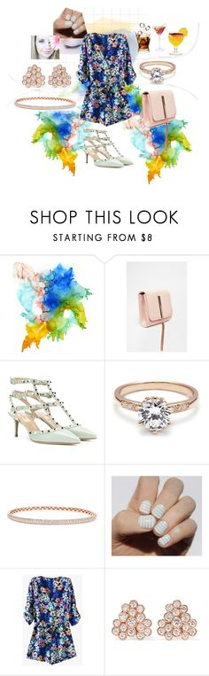 """""""after work drinks"""" by artwithmode ❤ liked on Polyvore featuring Valentino, Anita Ko and Ippolita"""