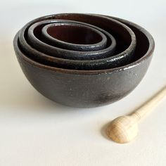 Handmade Bowls, Handmade Nesting Bowls, Nesting Bowl Set, ceramic, pottery, soup, noodle, mixing, cereal, ramen, pho, salad, pasta, chili, rice, bowls by KimHauCeramics on Etsy