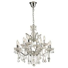 Check out this item at One Kings Lane! Tiffany 12-Light Chandelier, Chrome