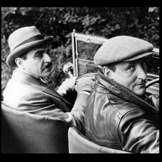 Poirot (David Suchet) and Hastings (Hugh Fraser) http://johnpirilloauthor.blogspot.com/