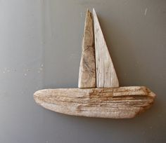 Driftwood Boat / Reclaimed Display / Floatind Ship / by EUvintage